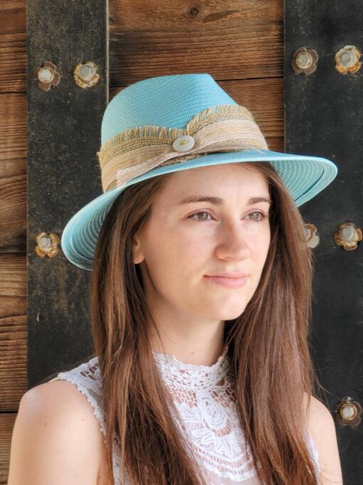 Capri-Fedora-Hat Blue
